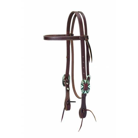 Weaver Working Cowboy Browband Headstall - Rope Edge