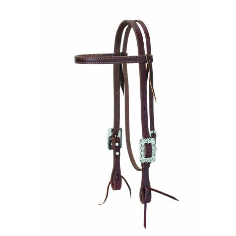 Weaver Working Cowboy Browband Headstall - Scalloped