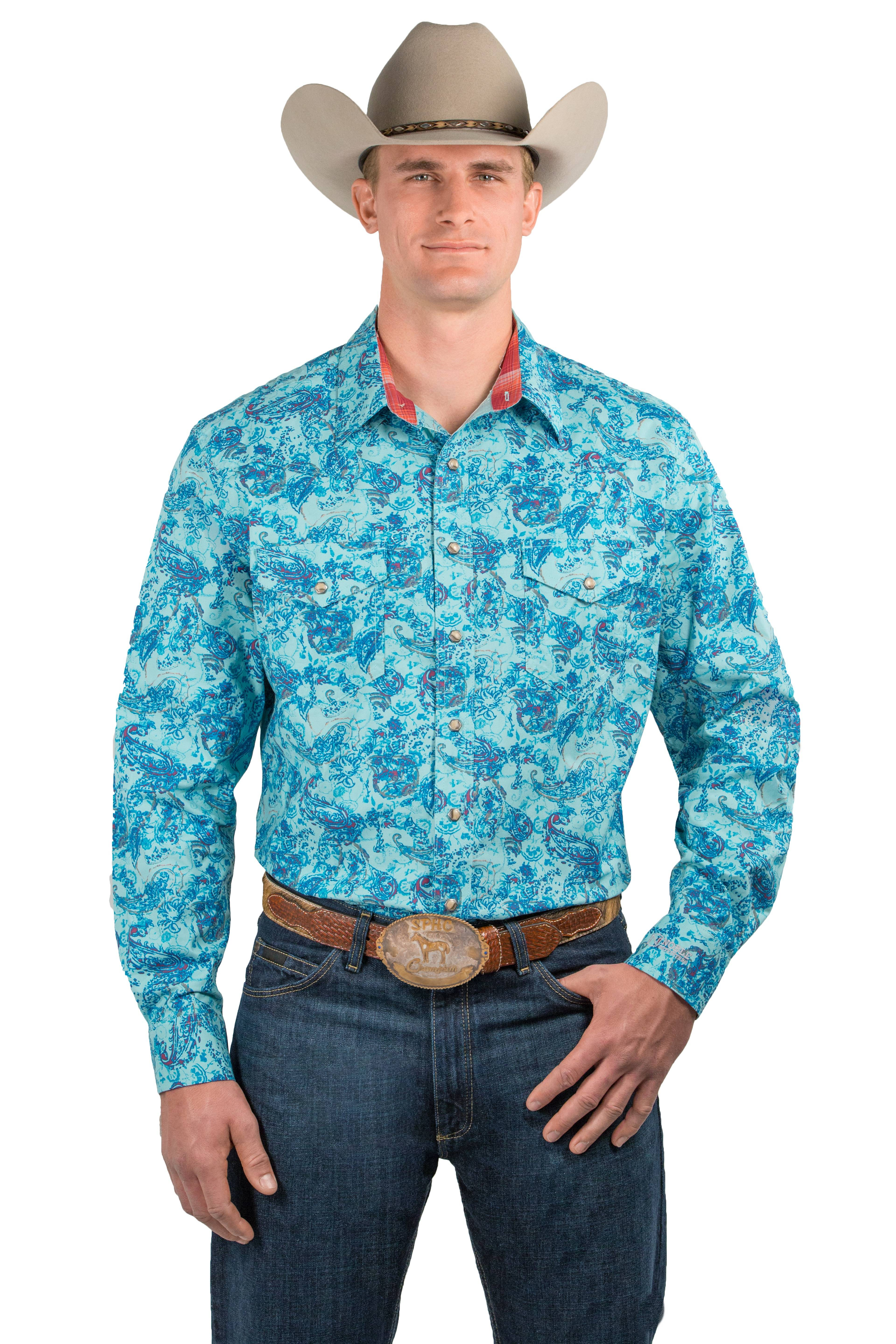 Noble Outfitters Mens Generations Fit Snap Front Shirt