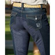 2kGrey Ladies Full Seat Denim Breech