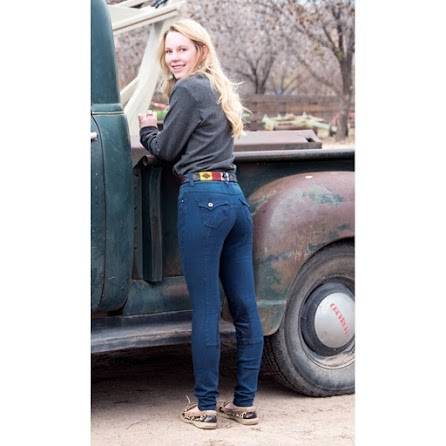 2kGrey Ladies Swirls Knee Patch Breech