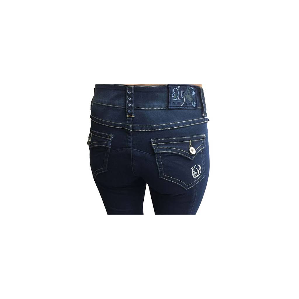 2kGrey Ladies Knee Patch Denim Breech