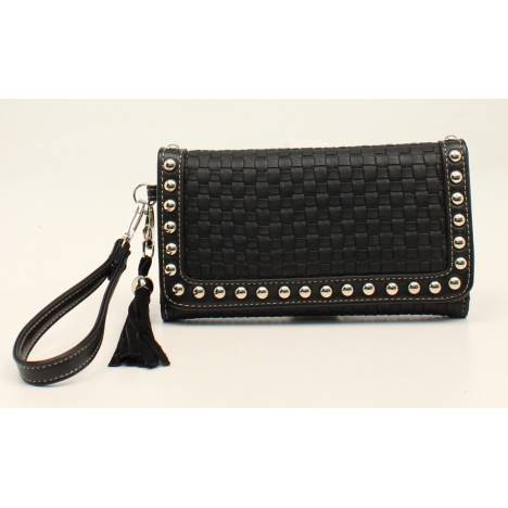 Nocona Annabelle Basketweave Bling And Tassels Clutch