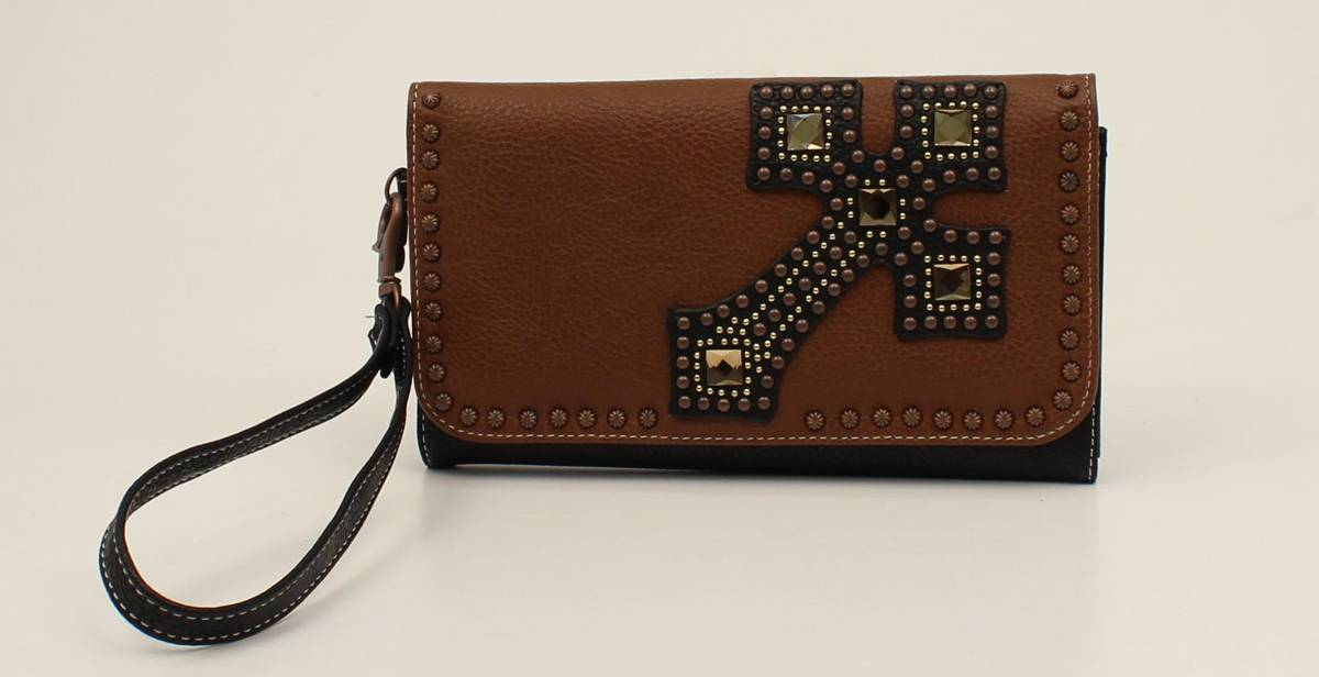 Nocona Delilah Nailhead And Cross Clutch