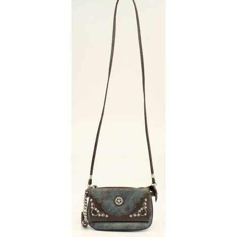 Nocona Meadow Scrolls And Bling Crossbody Bag