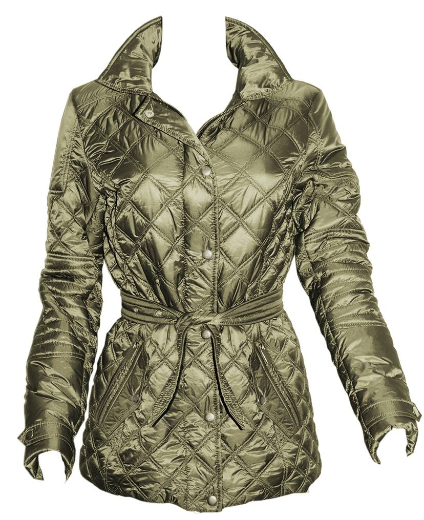 FITS Ladies Frankie Quilted Jacket - Olive