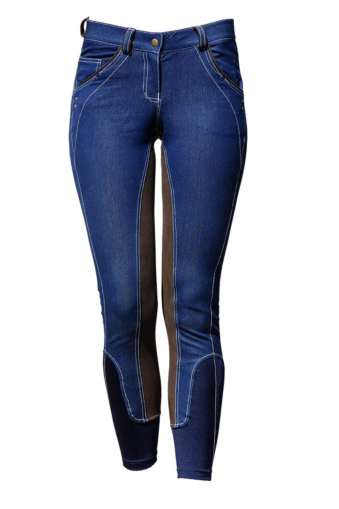 Horseware Ladies Self Seat Denim Breeches