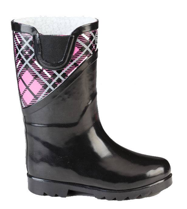 Muck Boots Kids Cozy Classic Puddleton - Pink Plaid