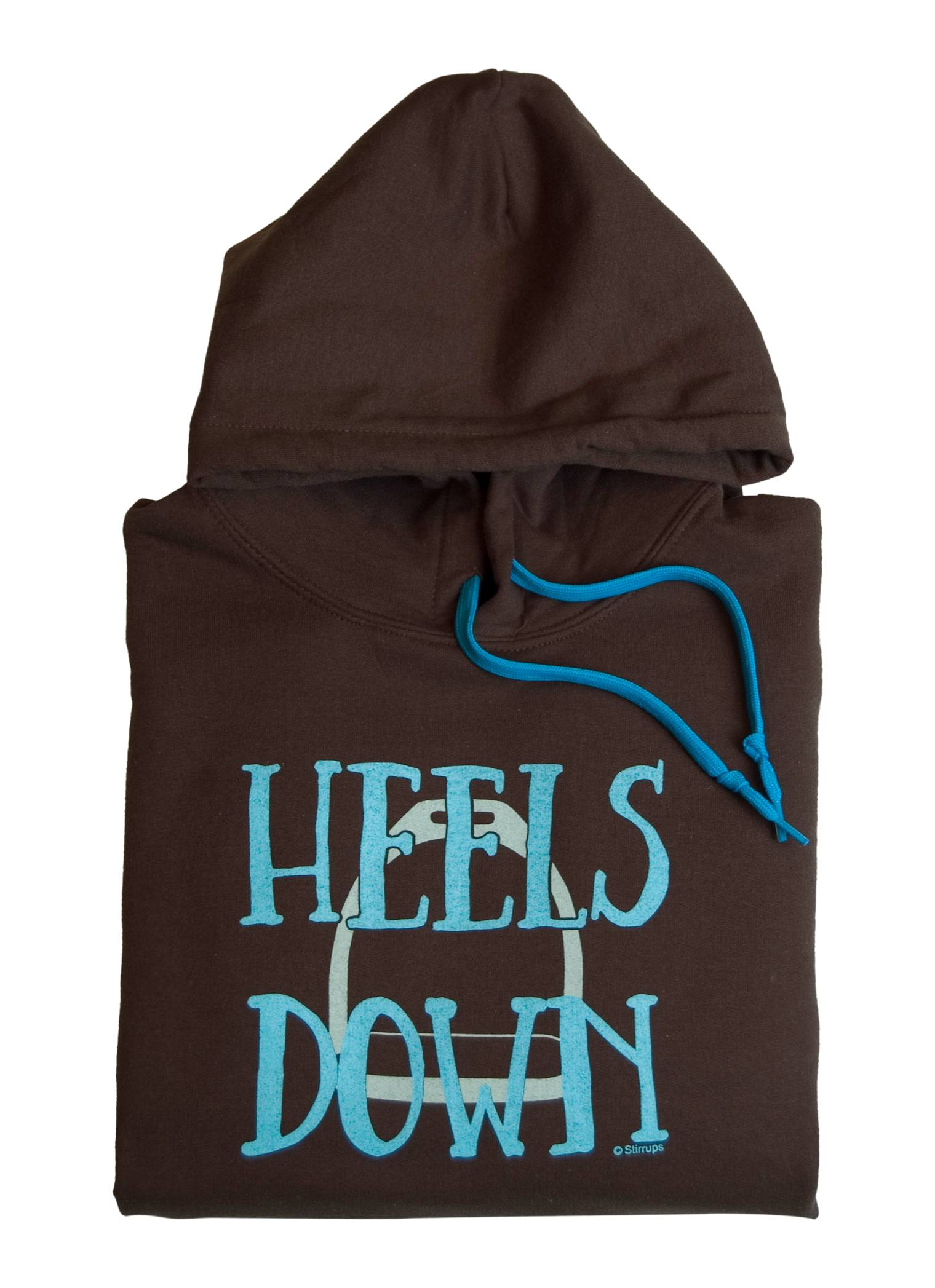 Stirrups Ladies Heels Down Hooded Sweatshirt