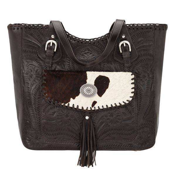 American West Annies Secret Collection Large Zip Top Tote