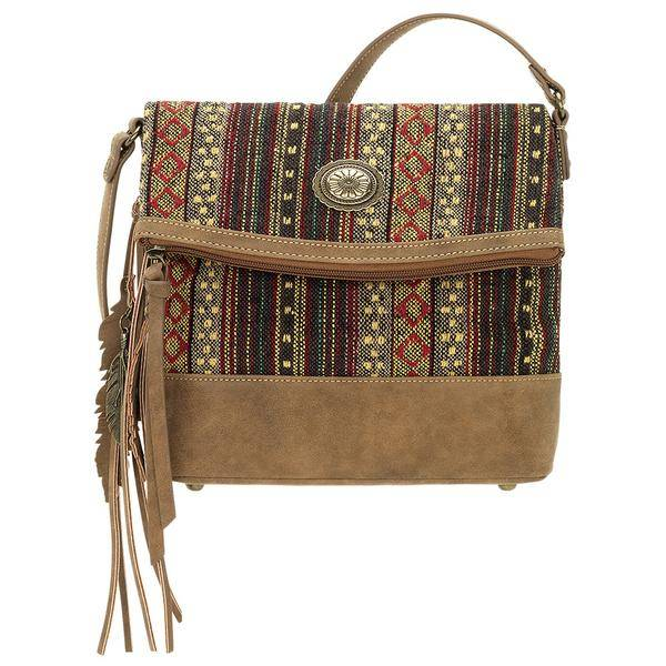 Bandana Serape Fold Over Crossbody