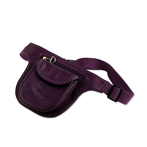 Debossed Gallop Horse Two Pocket Fanny Pack