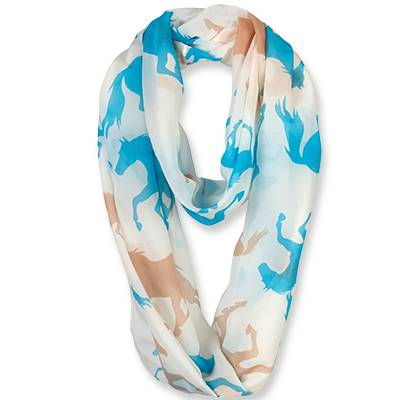 Ladies Galloping Horses Infinity Scarf