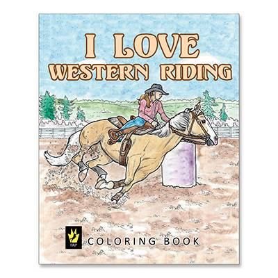 I Love Western Riding Lessons Coloring Book