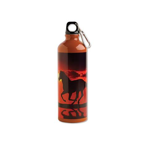 Sunset On The Beach Aluminum Sports Bottle