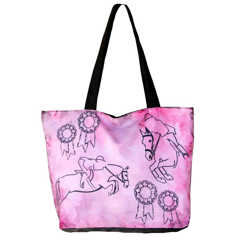 WOW Canvas Tote Bag Jumping