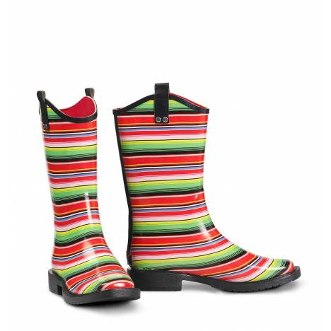 Blazin Roxx Ladies Alicia Stripe Square Toe Rain Boots