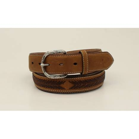Nocona Mens Top Hand Oval Concho Lacing Overlay Belt