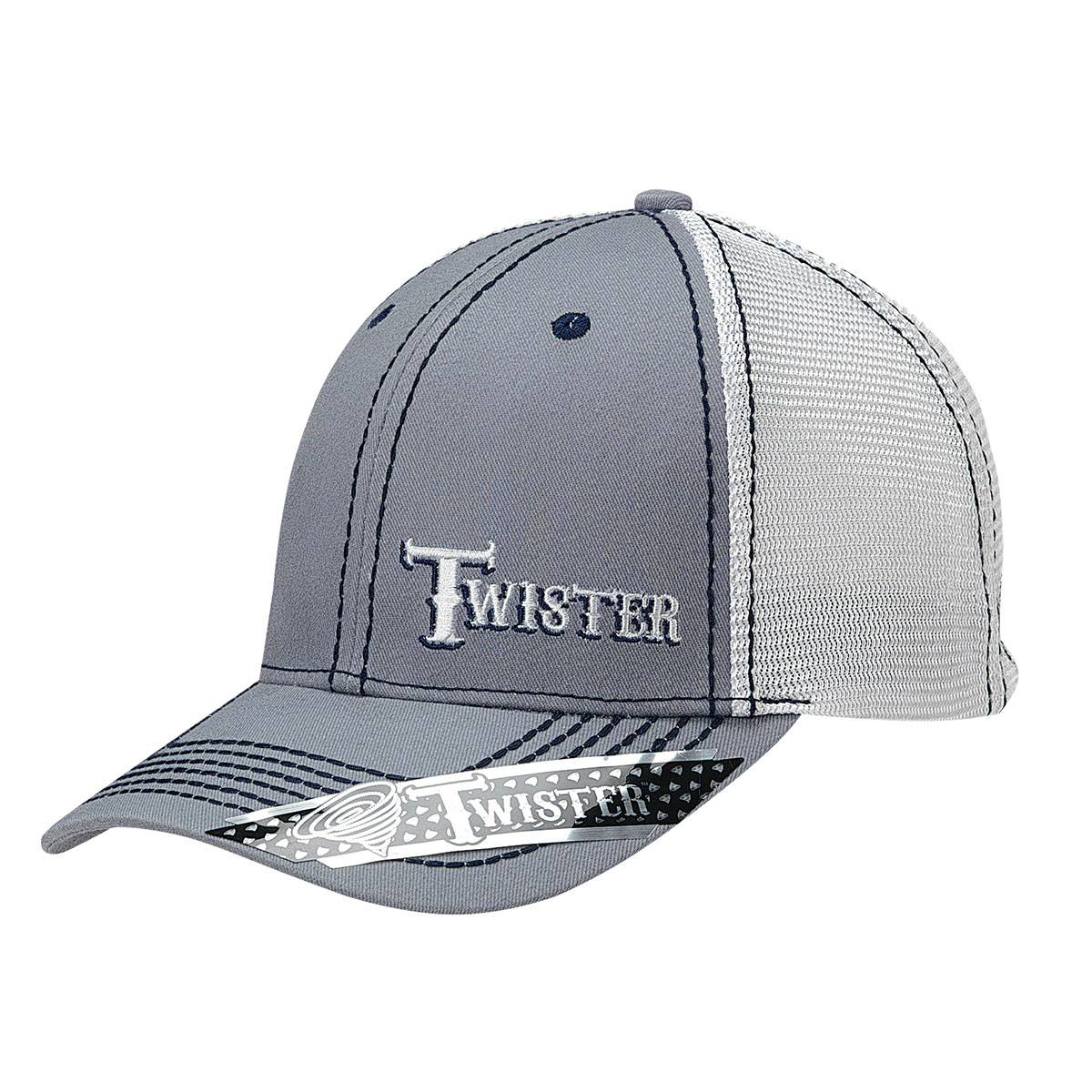 Twister Mens Offset Logo Mesh Snap Back Cap