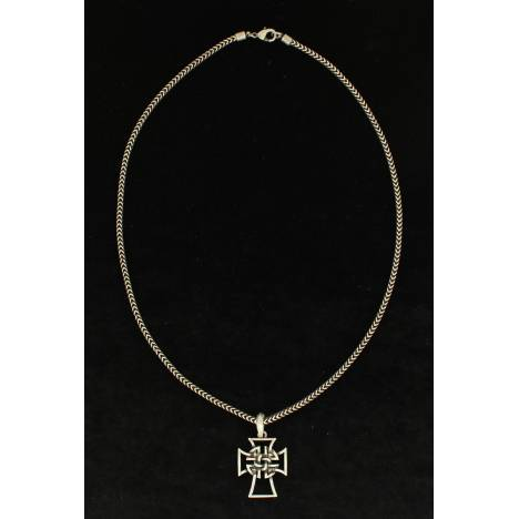 Twister Mens Celtic Cross Chain Necklace