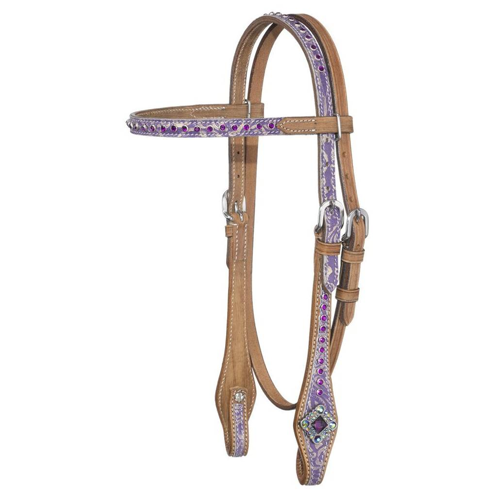 Silver Royal Sweet Pea Pony Miniature Horse Browband Headstall