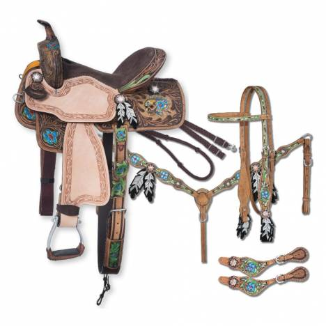 Silver Royal Salvador Collection Saddle Package 5 Piece