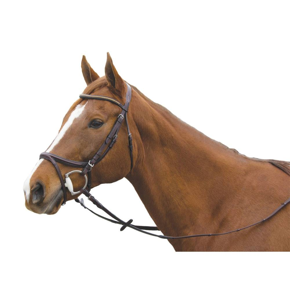 Exselle Elite Plain Raised Jumper Bridle with Extra Brow