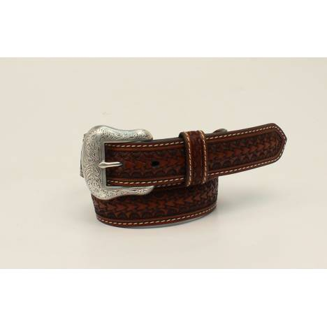 Nocona Kids Rawhide Laced Bar And Circle Concho Belt
