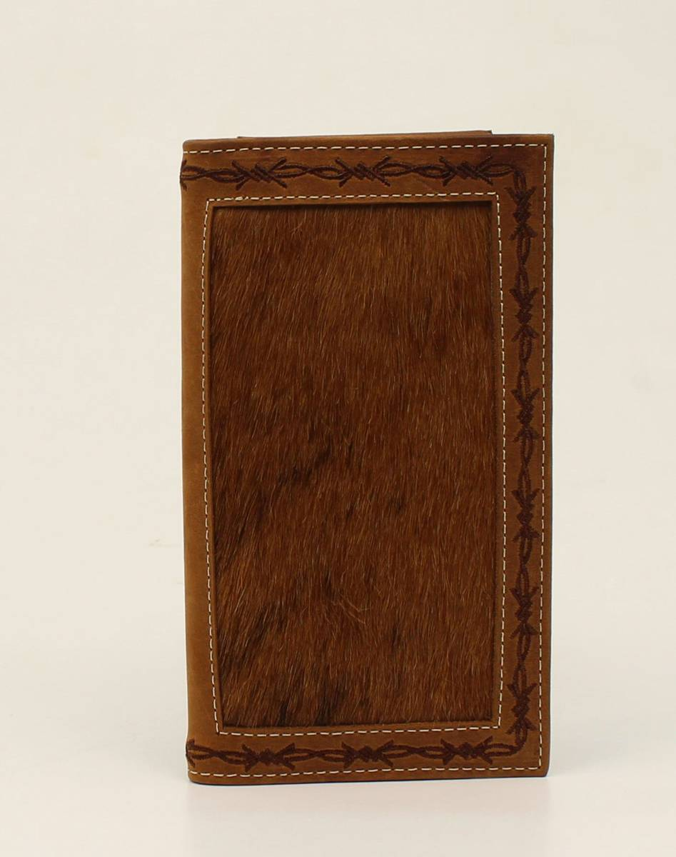 Nocona Rodeo Hairon Barbwire Edge Wallet