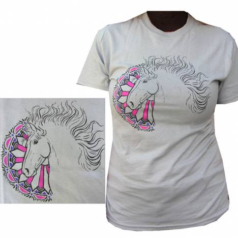 Sound Equine Ladies Carousel Horse Tee Shirt