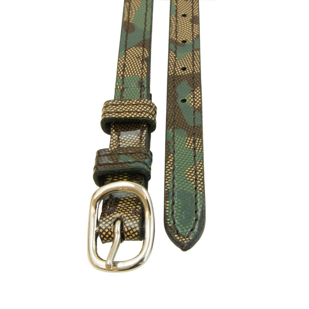 Leather Animal Print Spur Straps