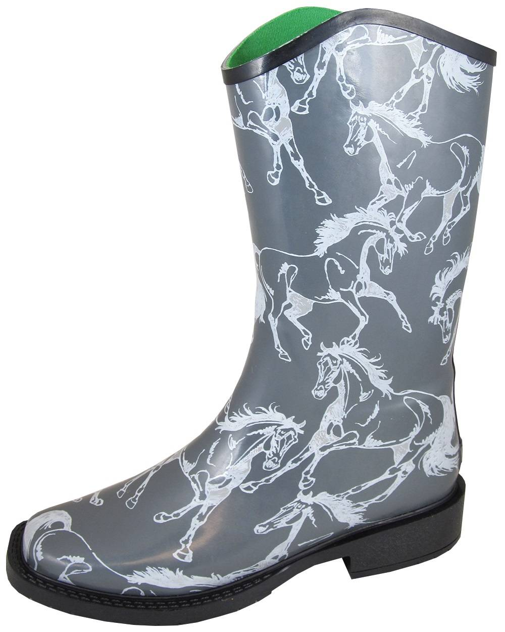 Smoky Mountain Ladies Ozark Boots - Grey Horses