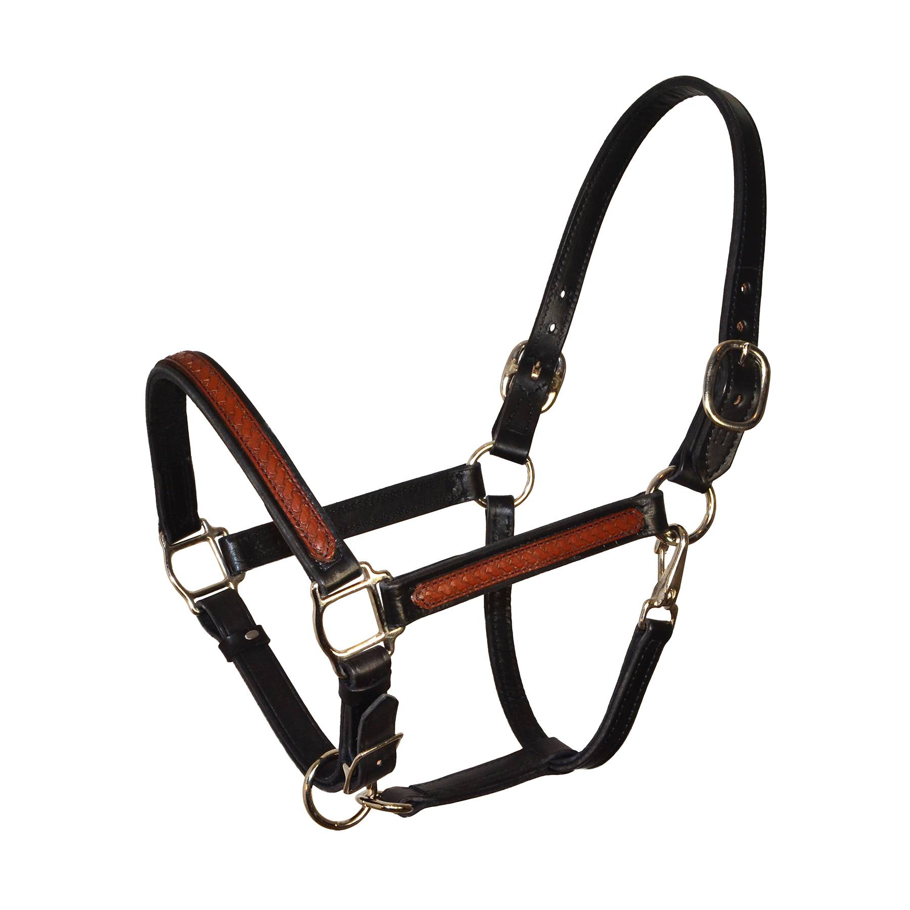 Perri's Leather Overlay Halter