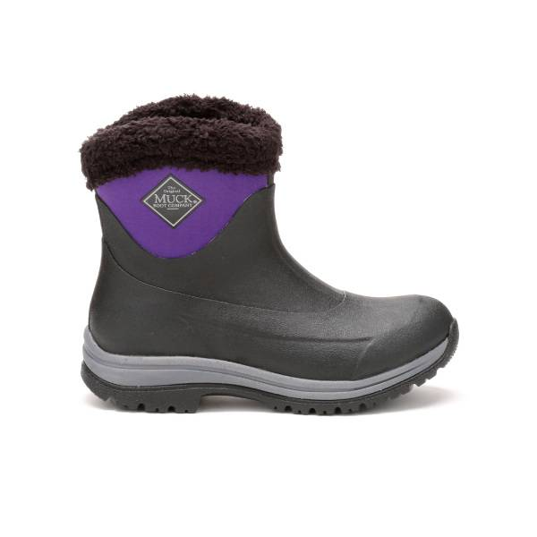 Muck Boots Ladies Arctic Apres Slip-On - Black Parachute Purple