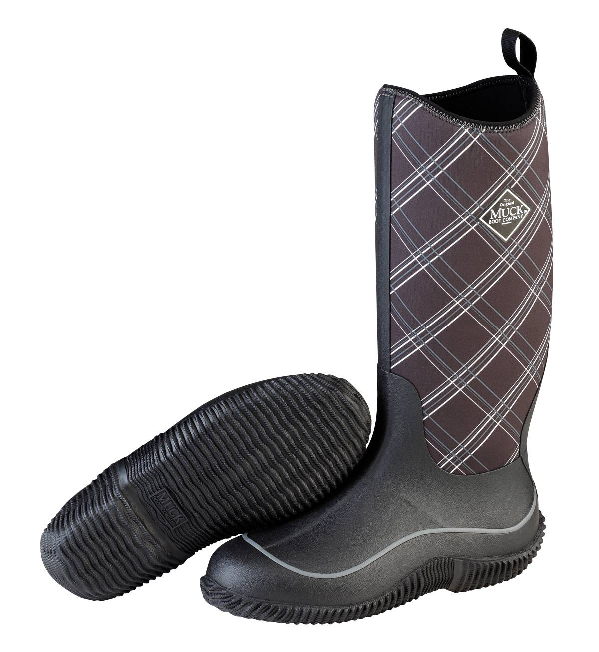 Muck Boots Ladies Hale - Black Gray Plaid