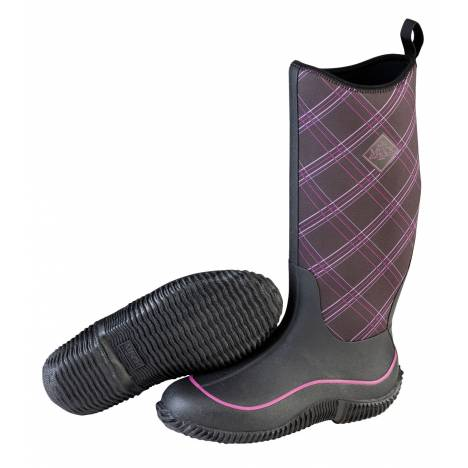 Muck Boots Ladies Hale - Black Purple Plaid