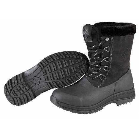 Muck Boots Ladies Arctic Apres Lace Mid - Black Charcoal