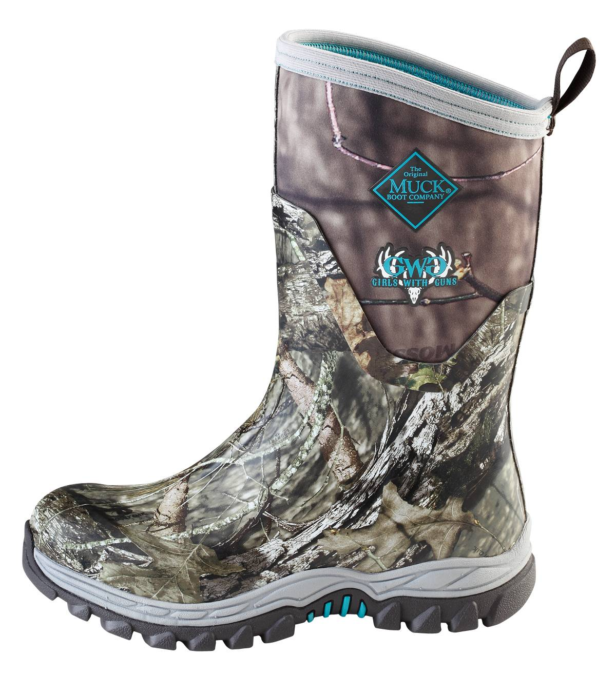 Muck Boots Ladies Arctic Hunter Tall - Bark Realtree Xtra Pink