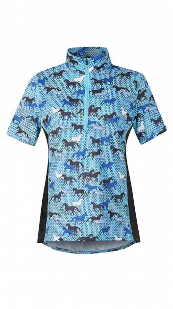 Kerrits Breeze Ice Fil Print Short Sleeve - Field Of Horses