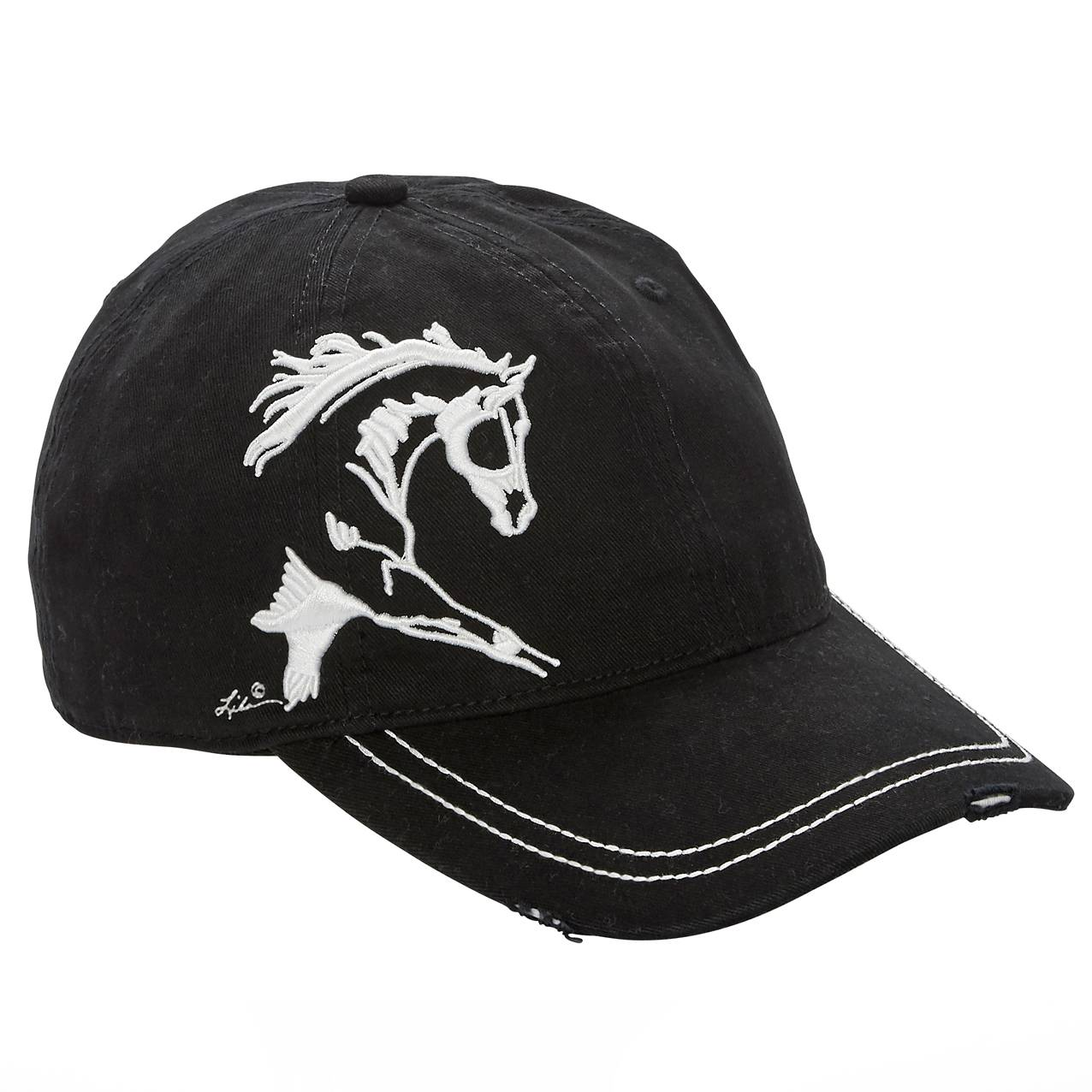 Lila Blakeslee Ladies Embroidered Extended Trot Cap