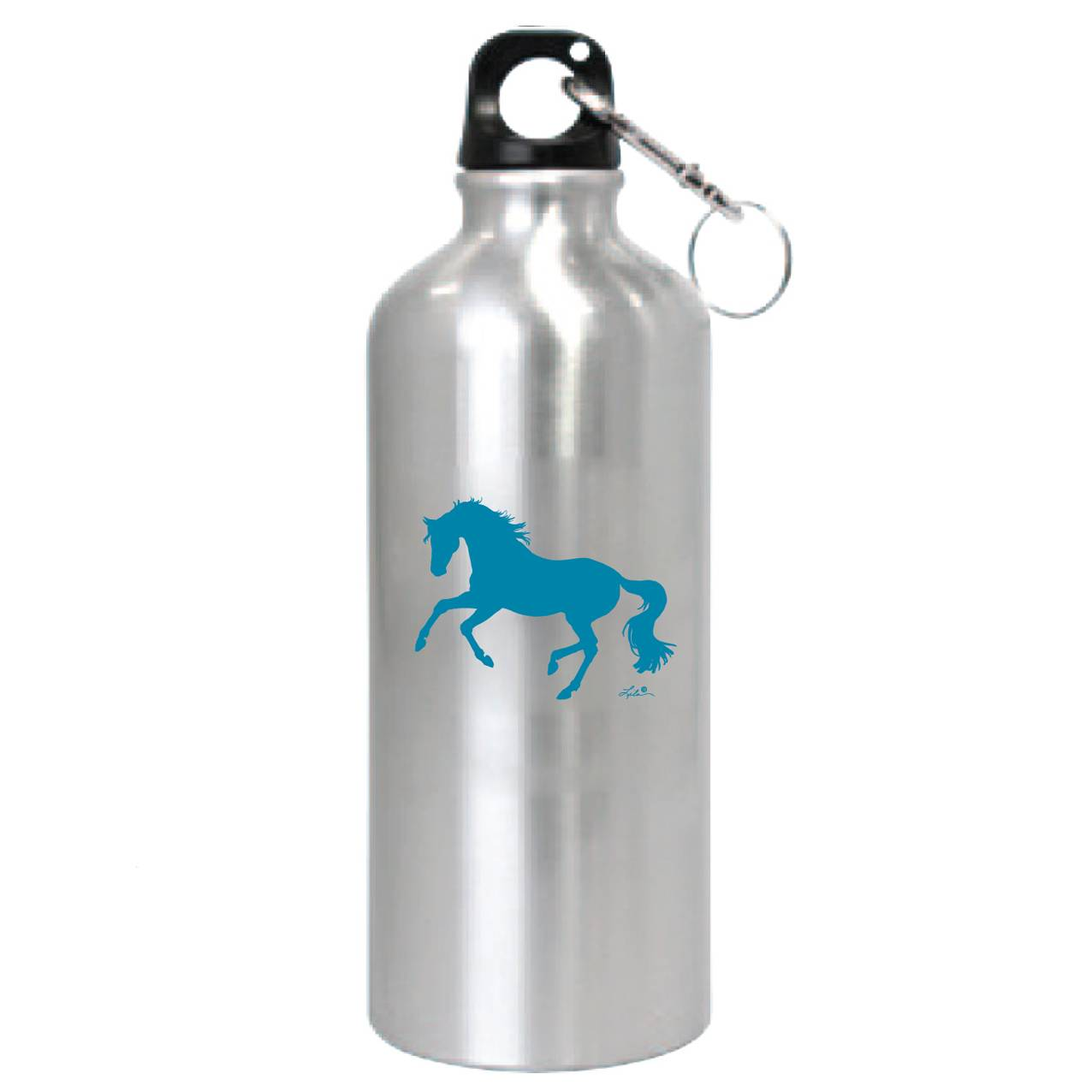 Lila Blakeslee Cantering Horse Aluminum Carabiner Sports Bottle