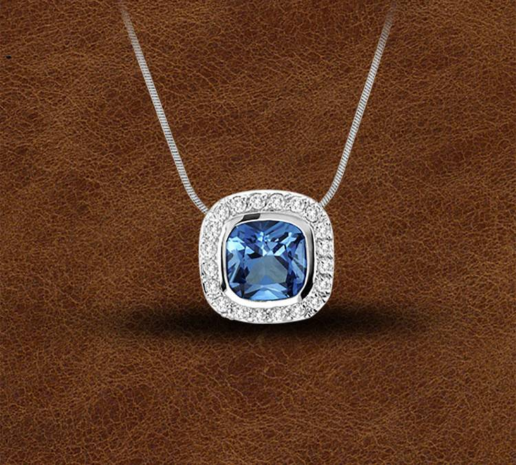 Kelly Herd Silver Contemporary Blue Pendant