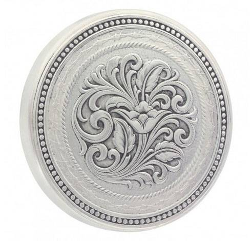 Montana Silversmiths New Traditions Beaded Stars And Barbed Wire Snuff Lid