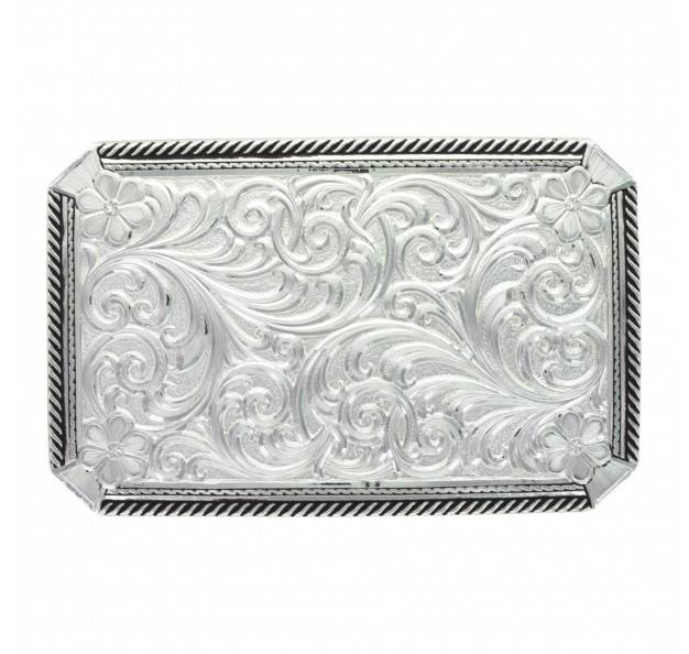 Montana Silversmiths Rope Edge High Relief Scroll & Flowers Pinpoint Buckle