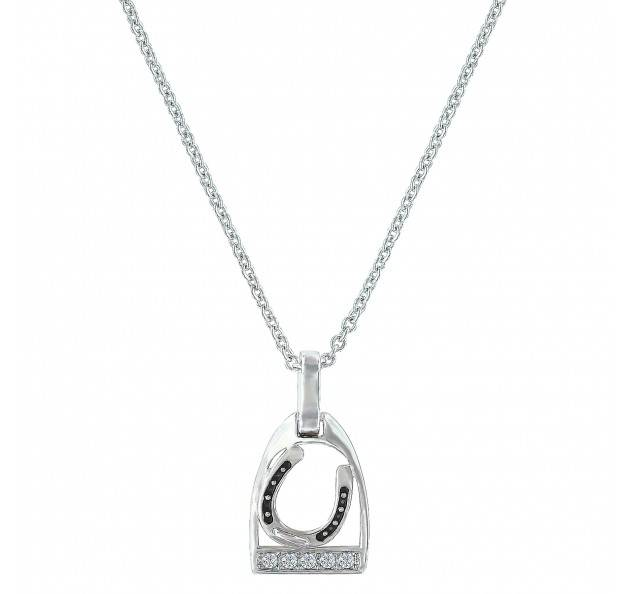 Montana Silversmiths Take A Ride With Me Tilted Horseshoe Stirrup Necklace