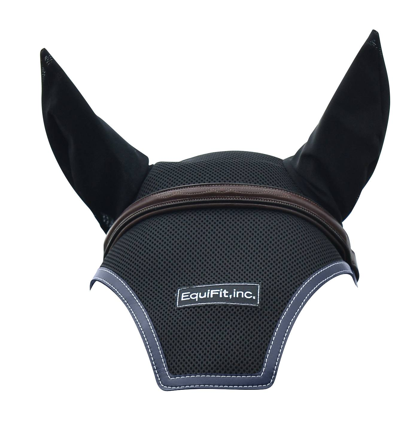Equifit Logo Ear Bonnet With Colored Trim