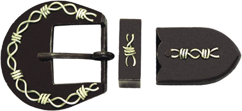Action Antique Barbwire Buckle Set