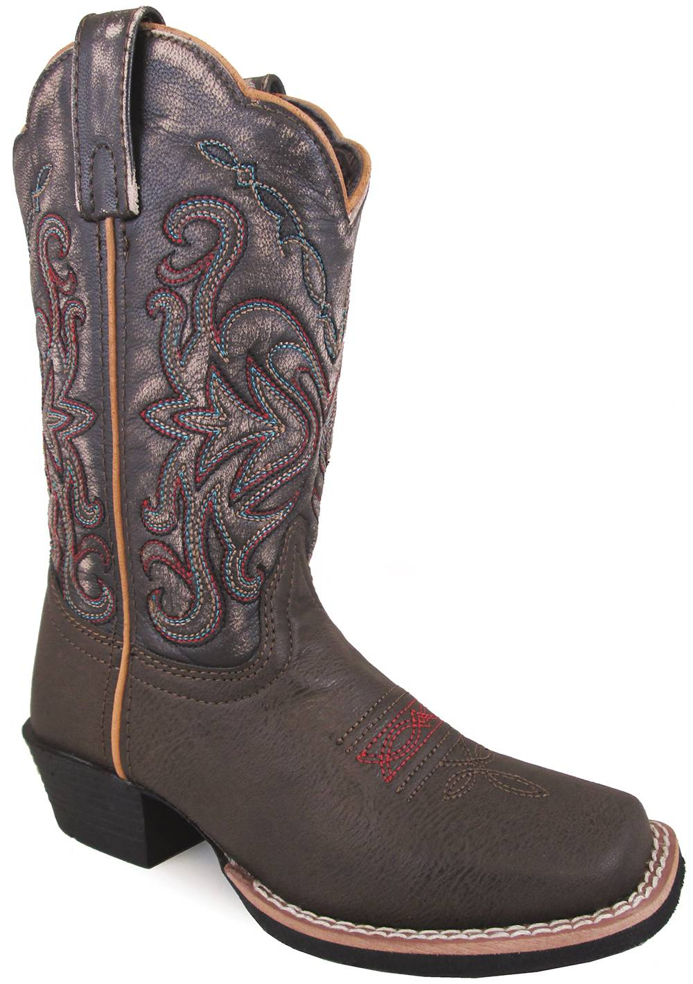 Smoky Mountain Children Fusion 2 Square Toe Boots - Brown/Black Vintage