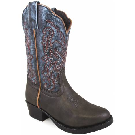 Smoky Mountain Children Fusion 2 Square Toe Boots - Brown/Blue Vintage