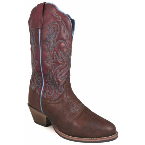 Smoky Mountain Ladies Altona Western Boots - Brown/Rust